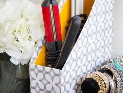 Magazine Holder Idea - Beauty Products Container