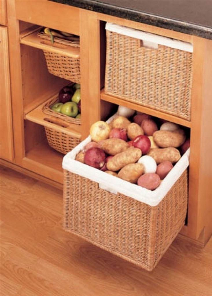 Open Weave Baskets On Drawers