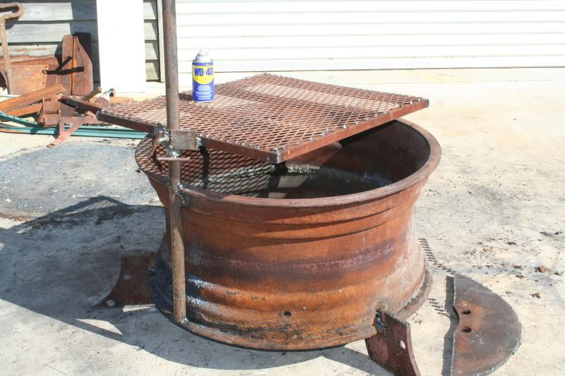Recycled Rim Bbq Fire Pit The Owner Builder Network