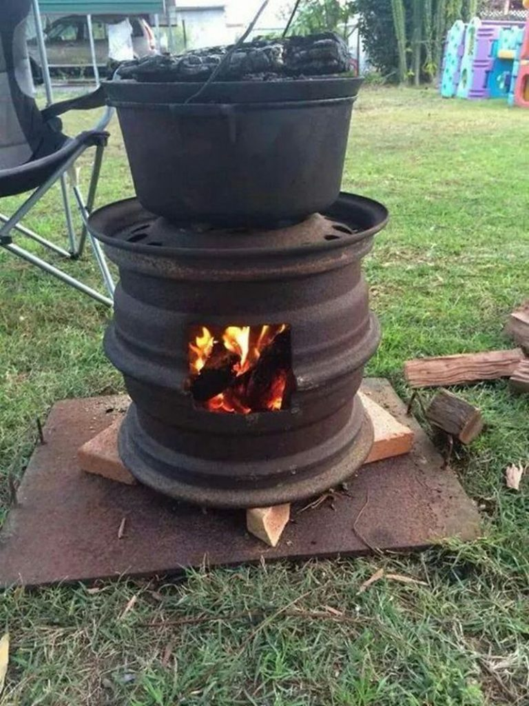 wheel rim fire pit instructions