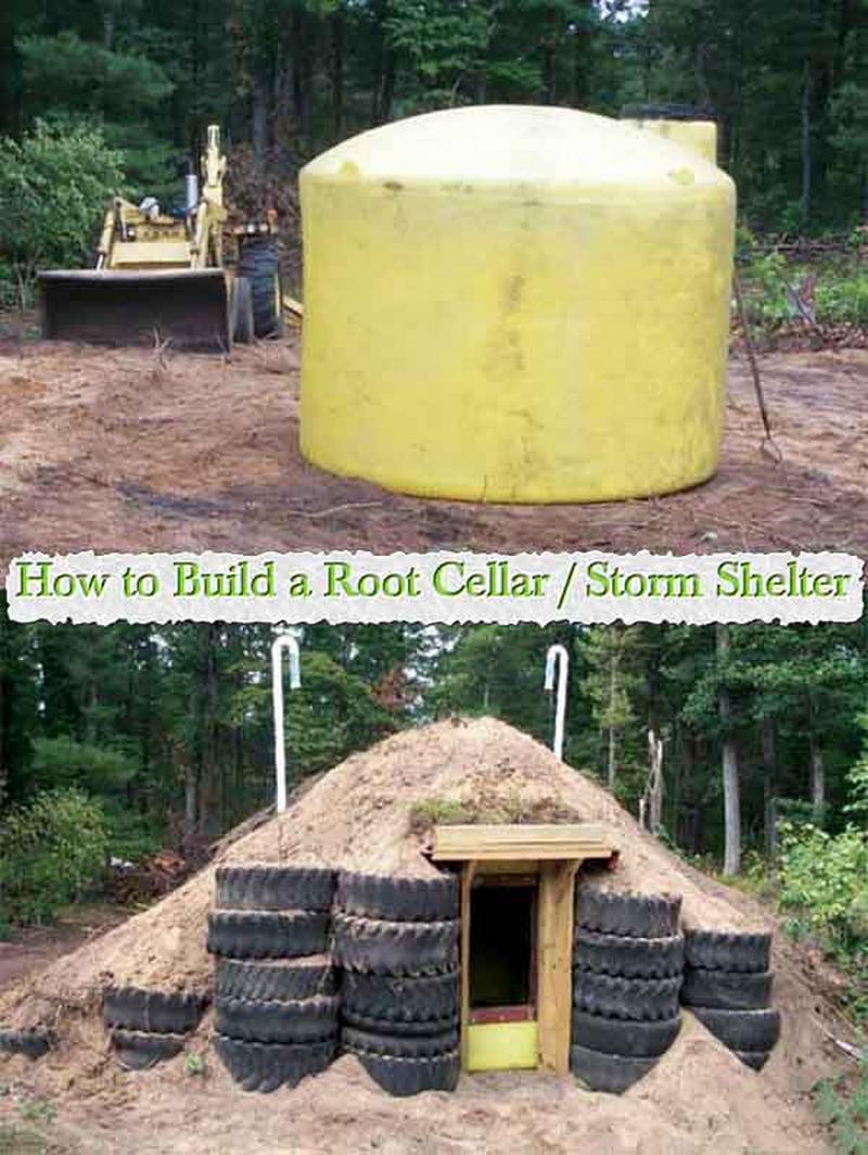 Repurposed Tank Root Cellar Storm Shelter