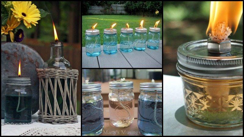 Citronella Mason Jar Candles