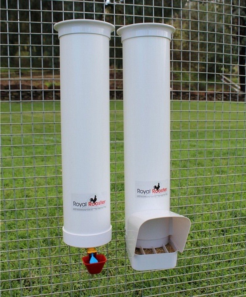How to build an inexpensive chicken feeder from PVC