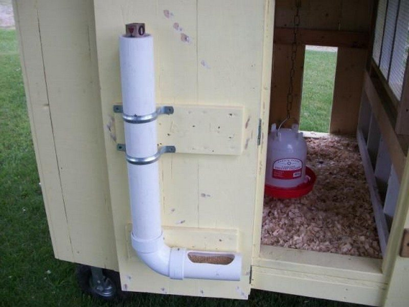 DIY PVC Chicken Feeder