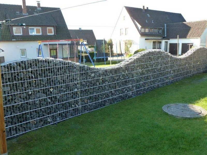 DIY Gabion Rock Walls Without Concrete