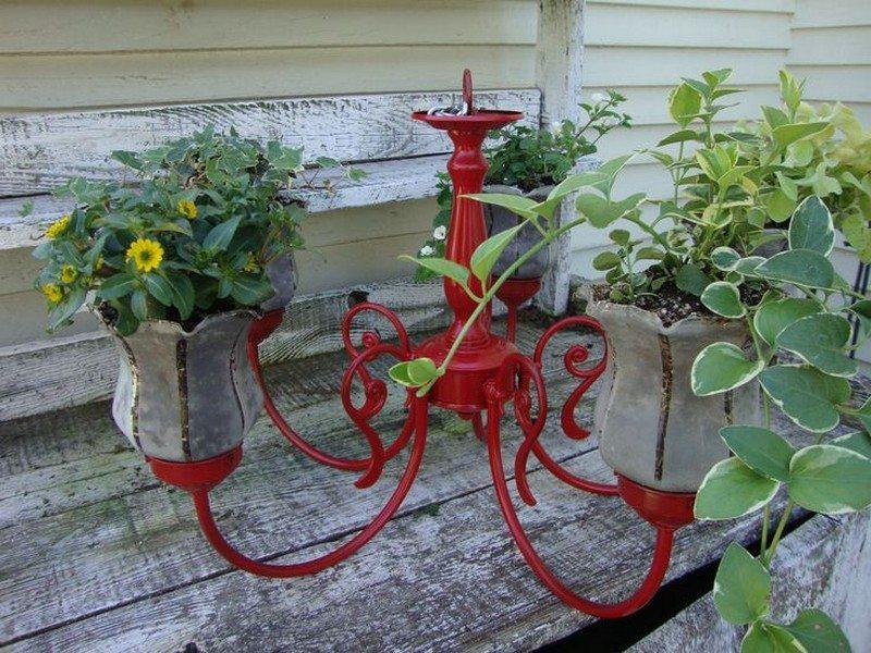 Hanging Planter Chandelier Ideas