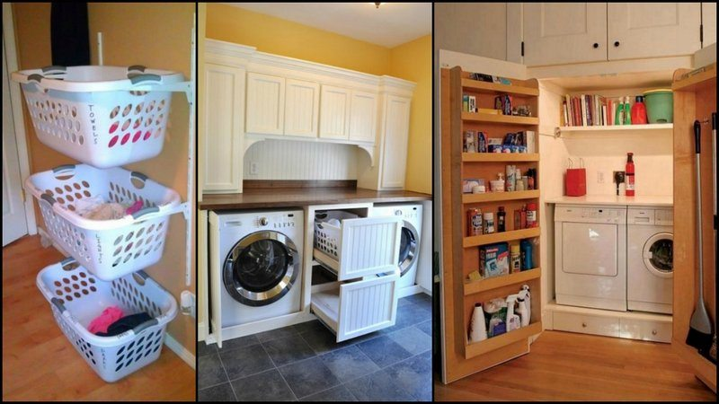 Super clever laundry room storage solutions the owner Storage solutions for small laundry rooms