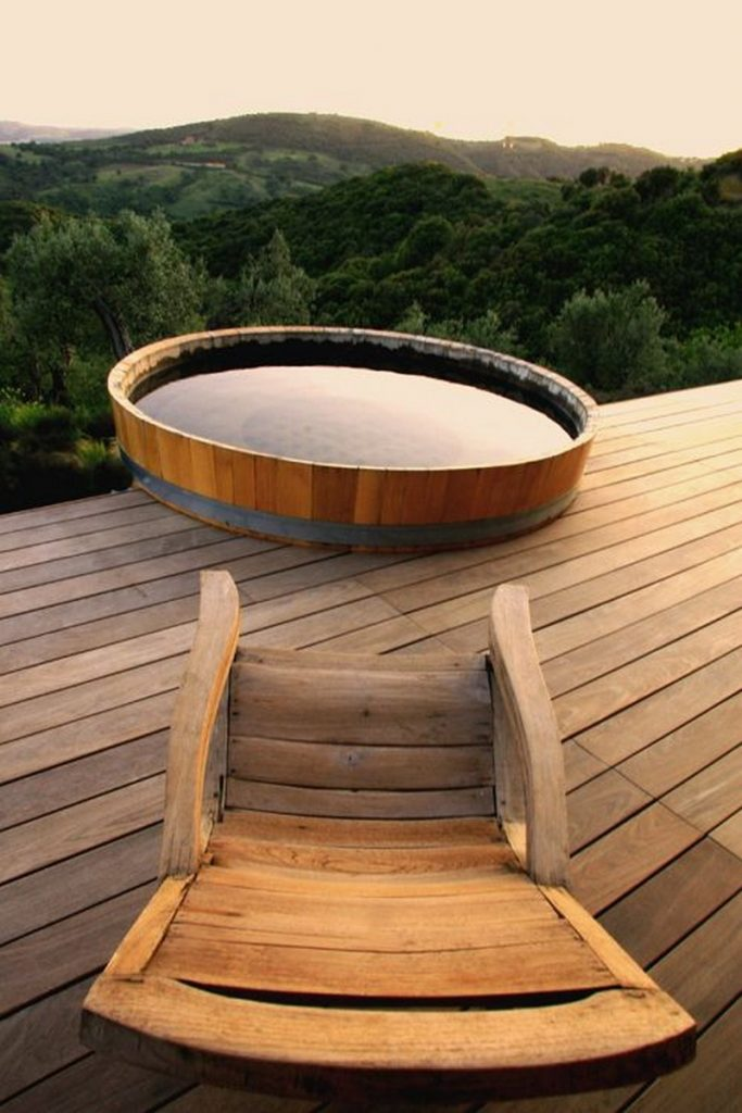 sizzling outdoor hot tubs that will make you want to plunge right in the owner builder network. Black Bedroom Furniture Sets. Home Design Ideas