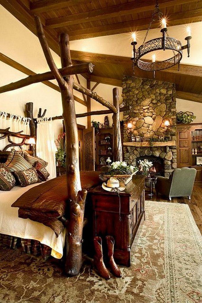 Warm Inviting Log Beds & Warm and inviting rustic log beds | Rustic Log Beds Canopy Bed