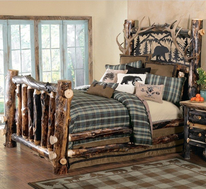 Bedroom Furniture Sketches Log Cabin Bedroom Decor 8x10 Bedroom Furniture Layout Bedroom Decor Uk: Warm And Inviting Rustic Log Beds