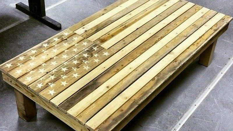 American Flag Coffee Table