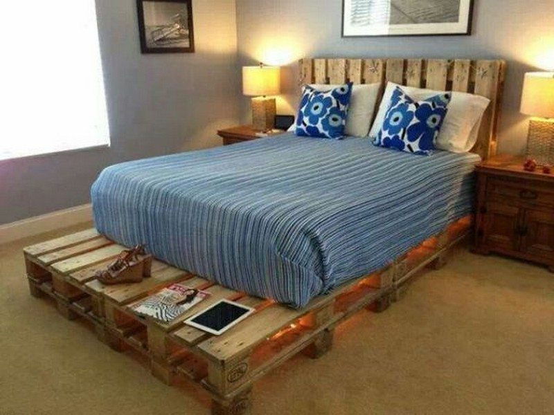 Illuminated Pallet Bed
