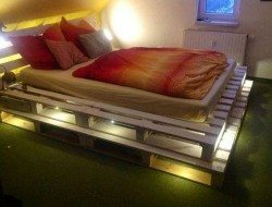 Illuminated Pallet Beds