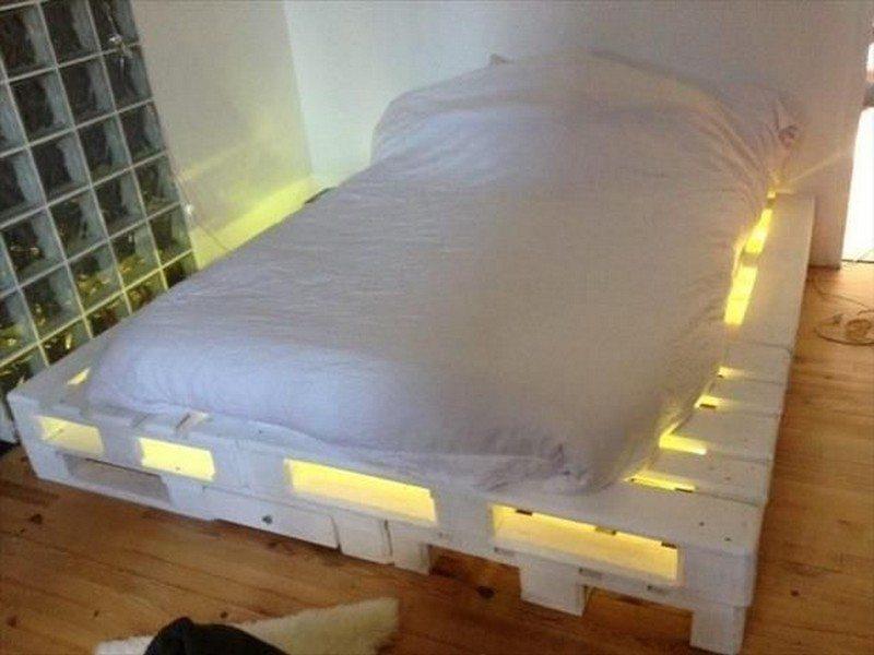 Illuminated Pallet Beds