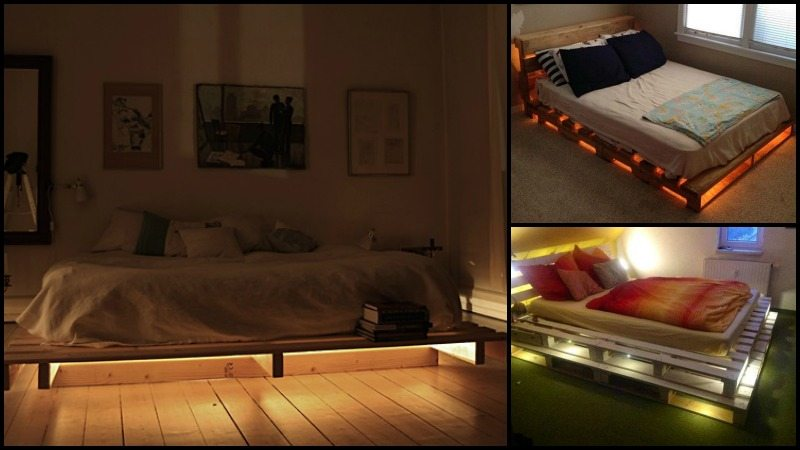 Illuminated Pallet Bed The Owner Builder Network