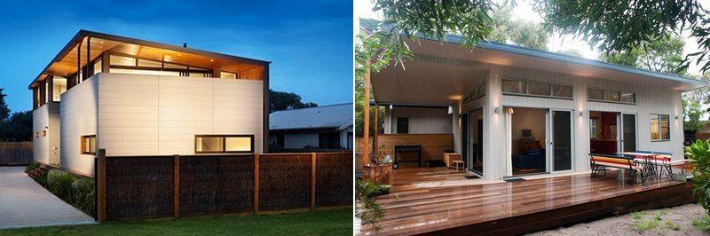 Two interpretations of the modern modular home!