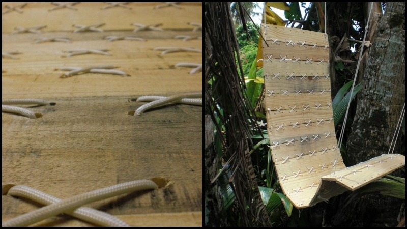 How to make a paracord-laced hanging pallet chair - The ...