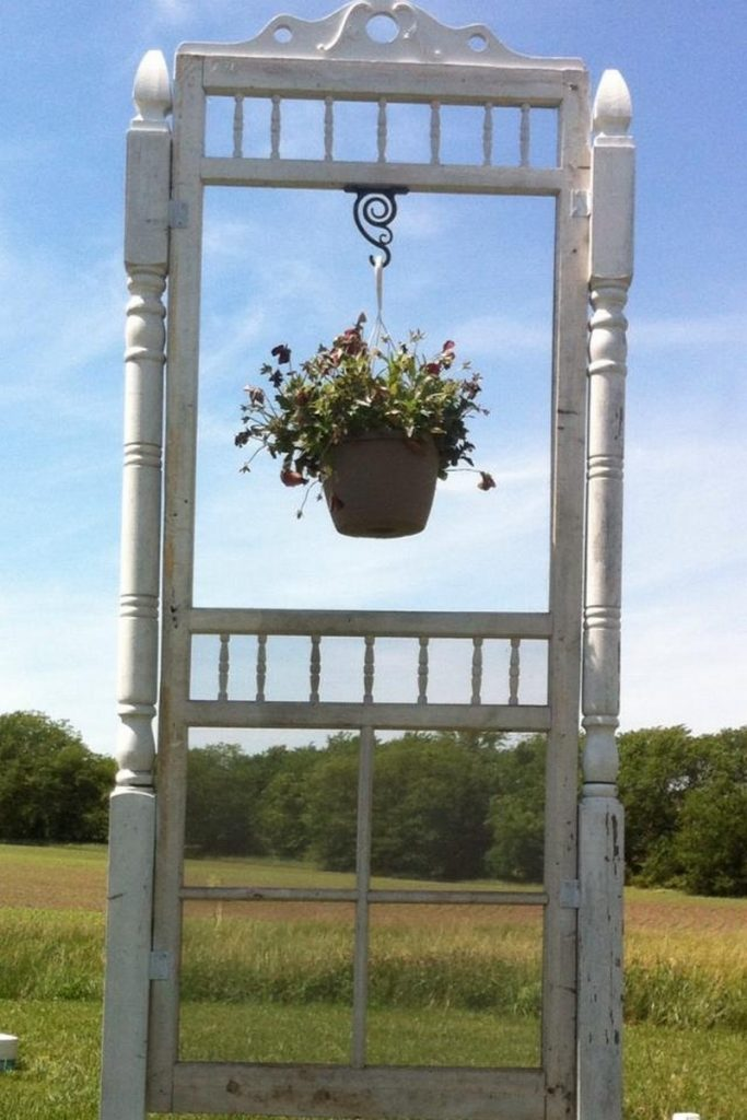 Upcycled Screen Door