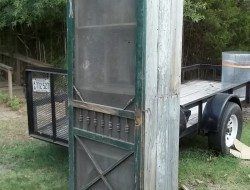 Upcycled Screen Door