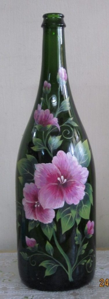 Ten clever ways to re purpose wine bottles the owner for What kind of paint to use for wine bottles