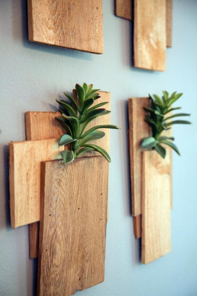 Chic projects to do with timber offcuts the owner - Wall designs with wood ...