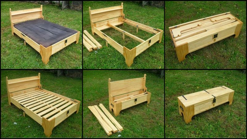 Bed In A Box Space Saving DIY Foldable Bed
