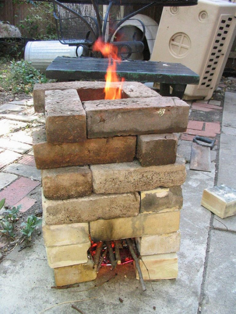 How to make a $6 brick rocket stove