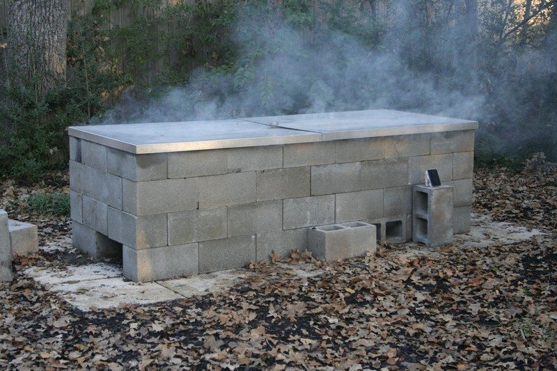 Build A Cinder Block Pit Smoker For 250 The Owner