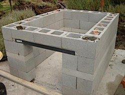Cinder Block Pit Smoker