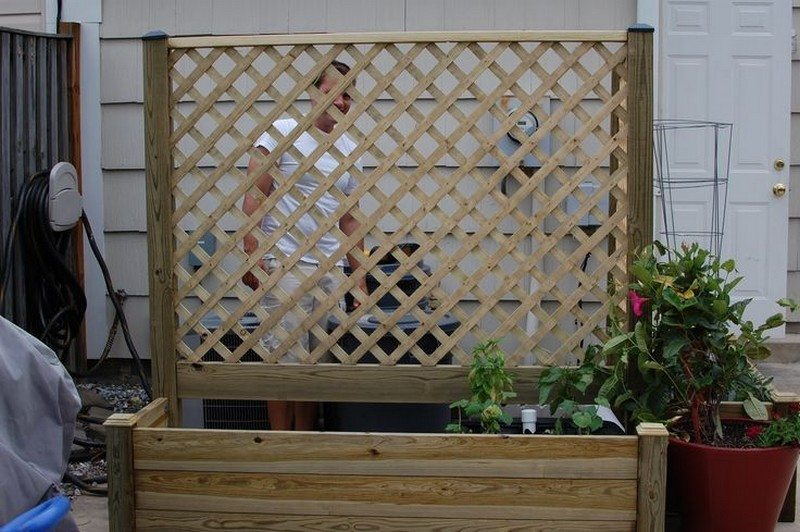 Privacy screen ideas for your outdoor area the owner for Trellis planter garden screen