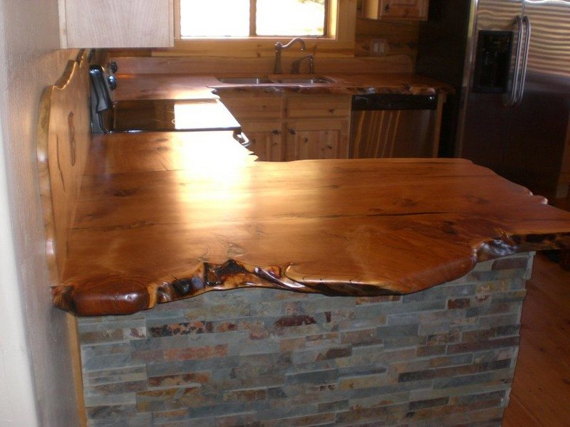 Rustic Timber Countertops