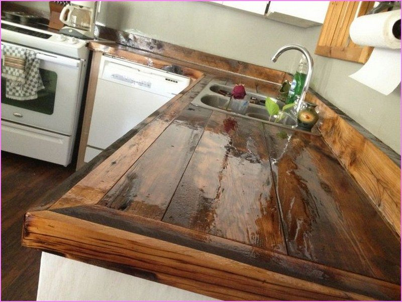 diy wood countertops. i decided to make my own counter for my