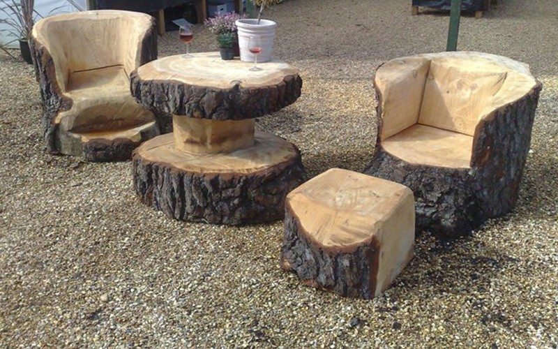 Unique Furniture Made From Tree Stumps And Logs