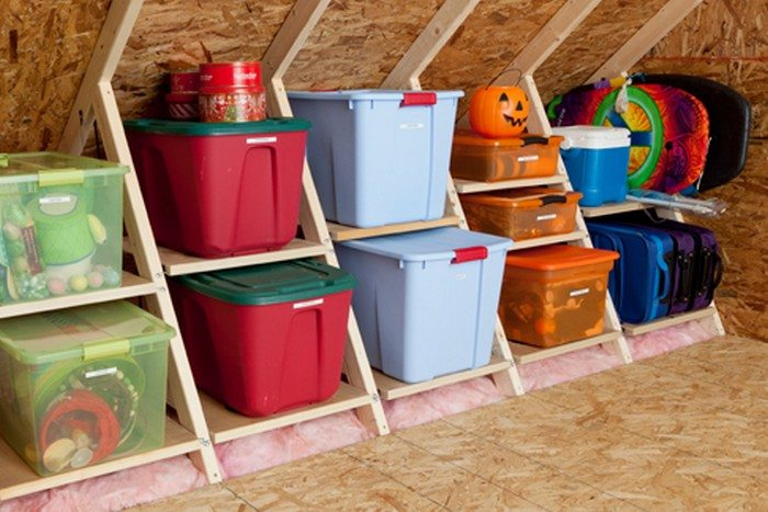 Clever attic storage ideas the owner builder network for Garage attic storage