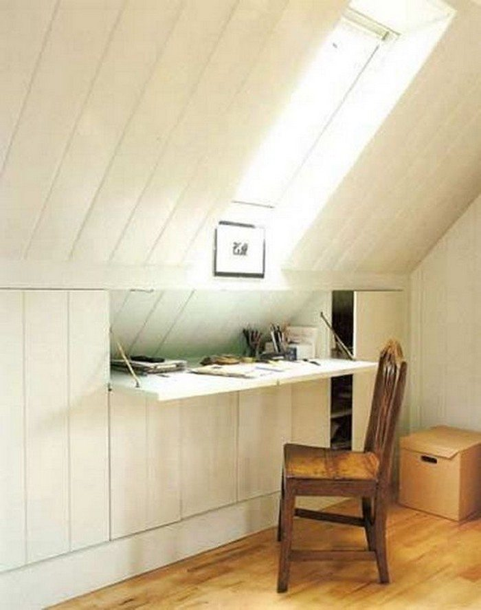 lean to attic space ideas - Clever Attic Storage Ideas