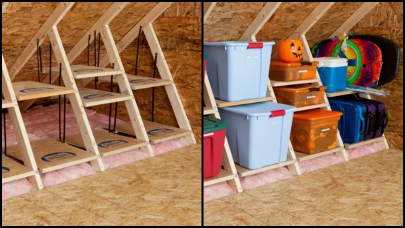 small attic storage ideas - Clever Attic Storage Ideas
