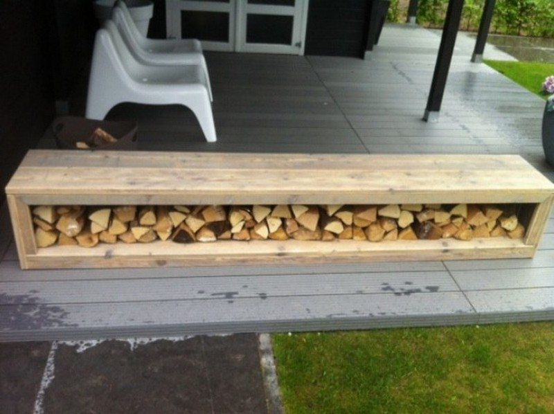 Firewood storage ideas the owner builder network for Log storage ideas