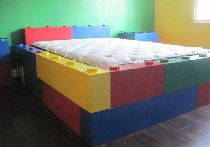Loft Bed Bunk Bed. Lego themed bedroom ideas