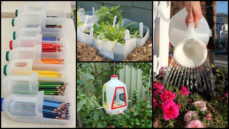 Repurposed Plastic Milk Jug Ideas Main Image