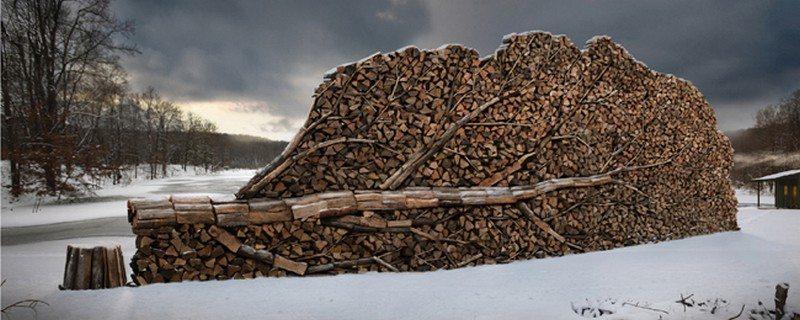 Wood Stacking Art