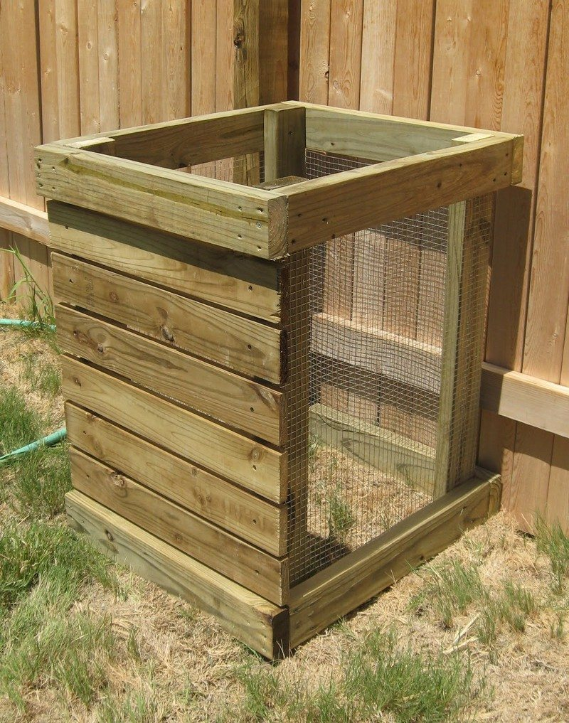 you can build a compost bin of any size with pallets you can even