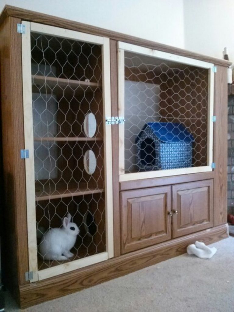 Rabbit hutch ideas made from repurposed furniture the for Diy guinea pig hutch