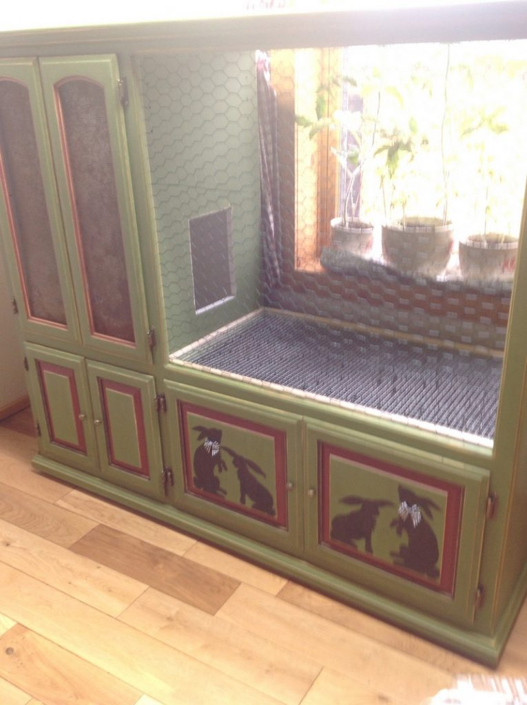 ideas for old furniture. Rabbit Hutch Ideas From Old Furniture For