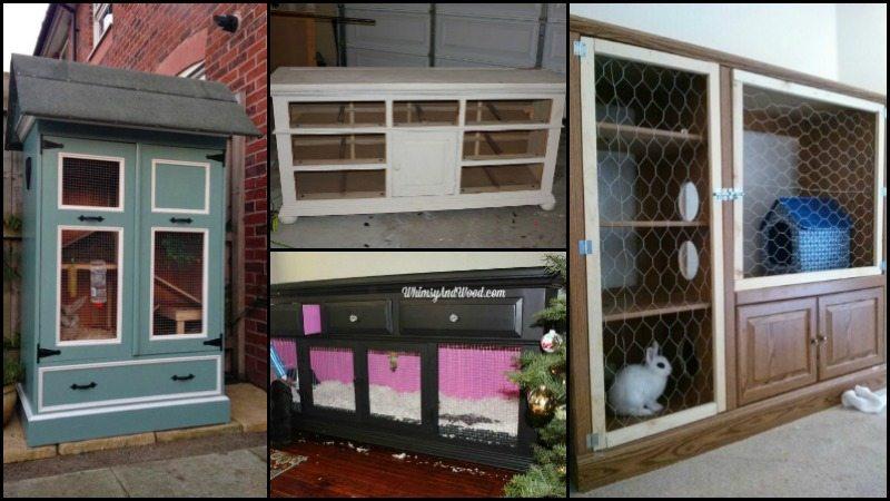 Repurposed Furniture rabbit hutch ideas made from repurposed furniture