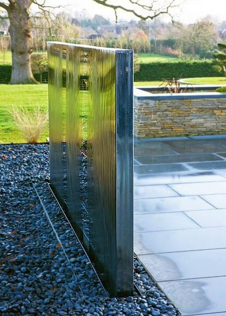 Water wall feature ideas the owner builder network - Wasserwand outdoor ...