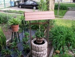 Wishing Well Planter Recycled Tires