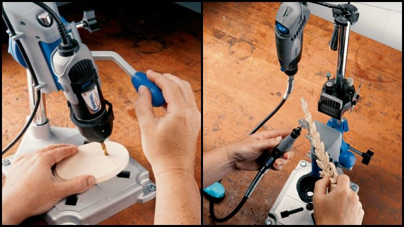 Dremel Rotary Tool Work Station - transforms your Dremel rotary tool into a tabletop drill press!