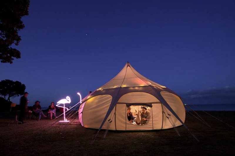 Camp in style with Lotus Belle glamping tents!