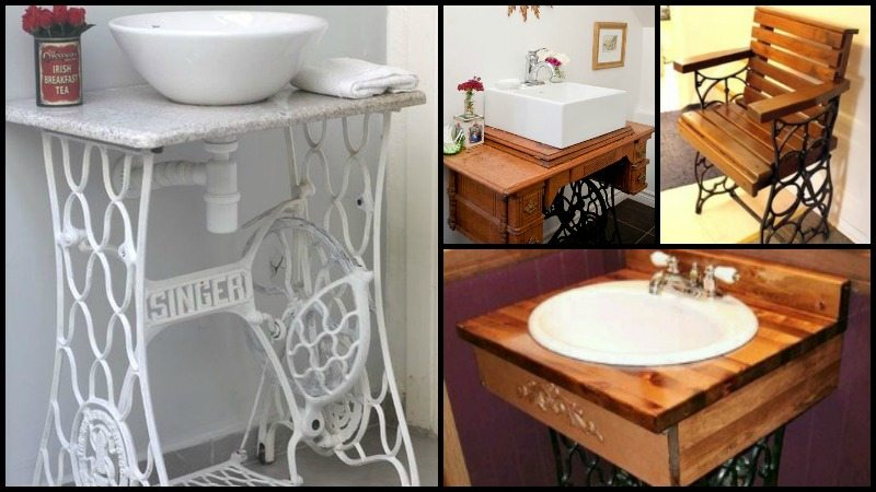 Reuse Old Sewing Machine Table Main Image