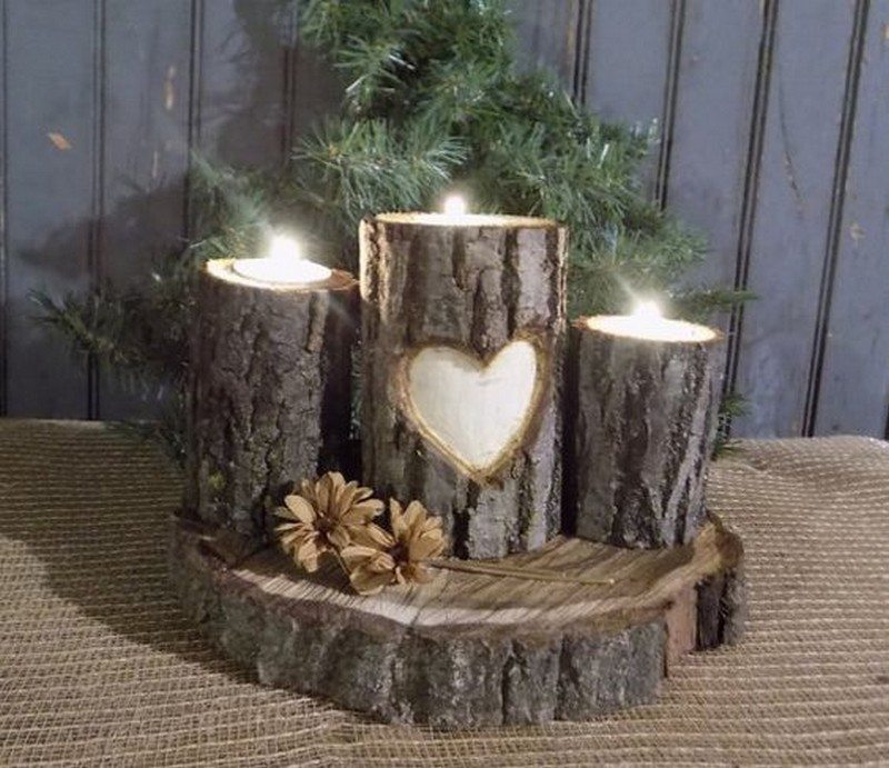 Add warmth to your home with these rustic log decor ideas - Log decor ideas let the nature in ...